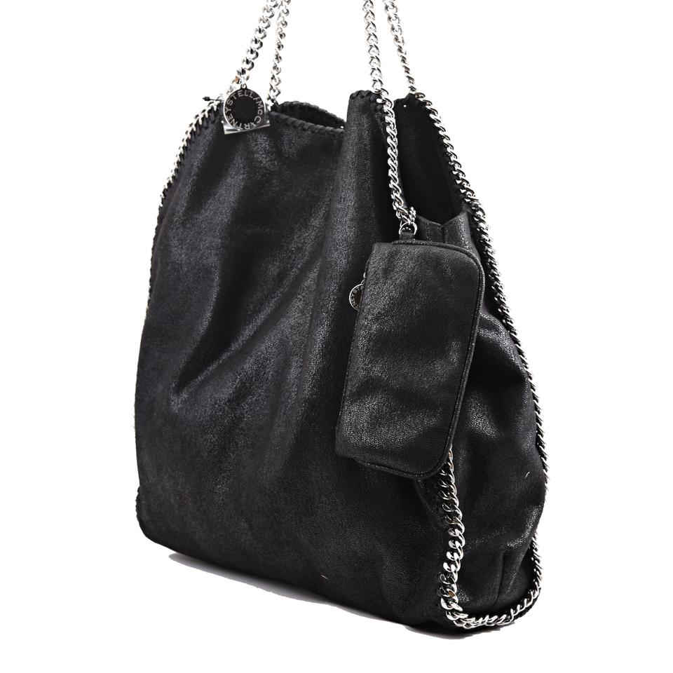e04c8cc7332a5 Stella McCartney Large Falabella Shaggy Deer Black Faux Leather Tote ...