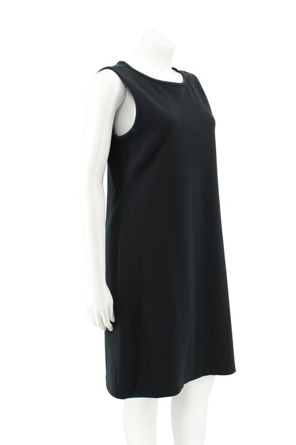 Liz Claiborne short dress Black Cotton Ponte Knit Sleeveless Shift on Tradesy Image 1