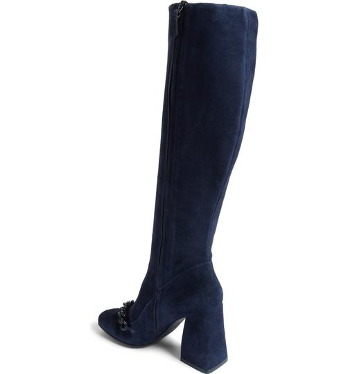 Tory Burch Suede Royal Navy Blue Boots Image 3