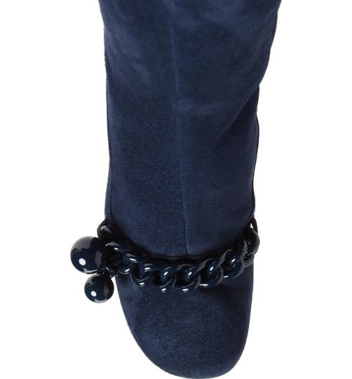 Tory Burch Suede Royal Navy Blue Boots Image 5