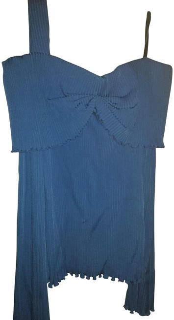 8117356c3ba9e ELLERY 8us Pleated One Shoulder Long Sleeve Blue Sweater - Tradesy