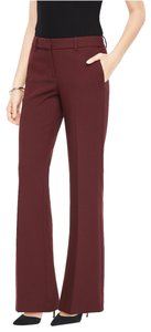 Ann Taylor Stretch Suiting Leg Office Trouser Pants Red