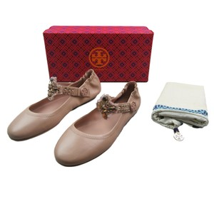 Tory Burch Embellished Rose Pink Flats