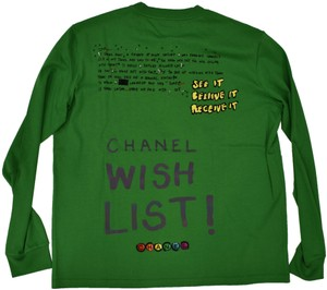 b2c34132e007a Chanel Chanelxpharrell Pharrell Collaboration Capsule Collection T Shirt  Green