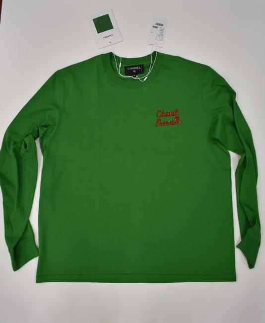 Chanel Chanelxpharrell Pharrell Collaboration Capsule Collection T Shirt Green Image 1