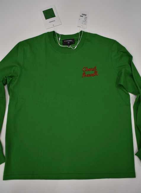 Chanel Chanelxpharrell Pharrell Collaboration Capsule Collection T Shirt Green Image 3
