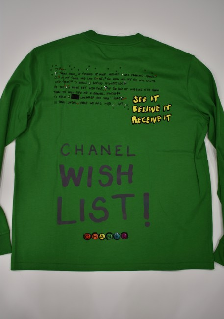 Chanel Chanelxpharrell Pharrell Collaboration Capsule Collection T Shirt Green Image 6
