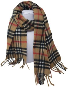 Burberry Brown, red multicolor Burberry Nova Check cashmere wool scarf