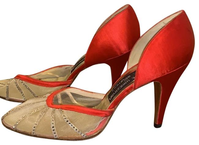 Item - Red Crystal Mr Seymour Pumps Size US 7 Narrow (Aa, N)