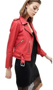 AllSaints red Leather Jacket