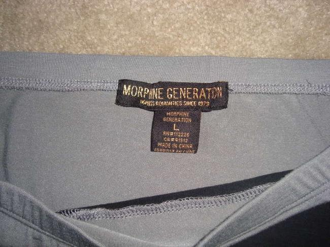 Morphine Generation Mini Skirt grey with black stripe and studs