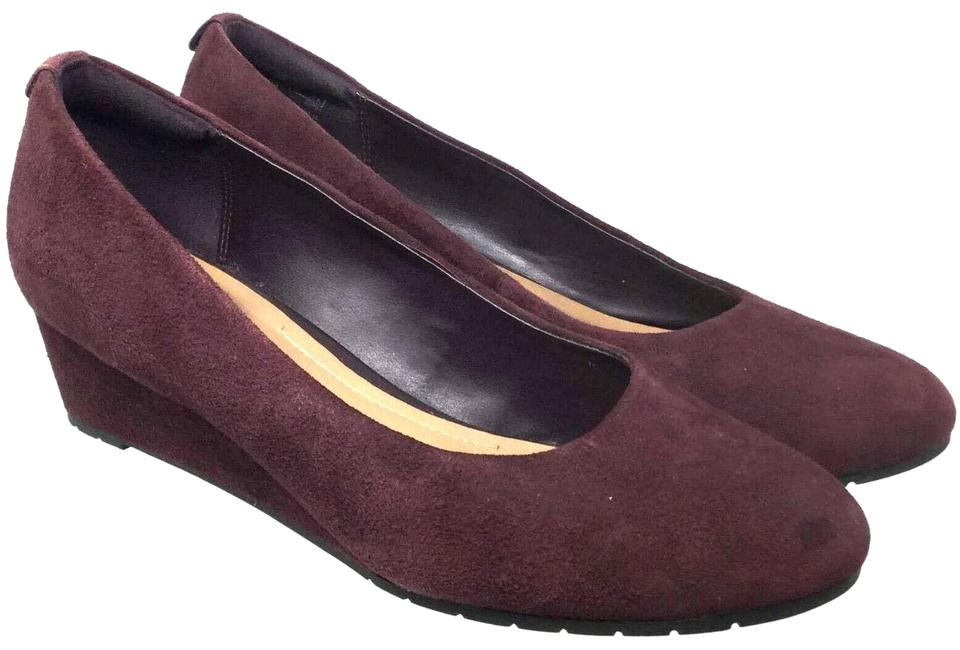 3cf51bc19762b Clarks Purple Women's Eu 37.5m Suede Wedges Size US 7 Regular (M, B ...