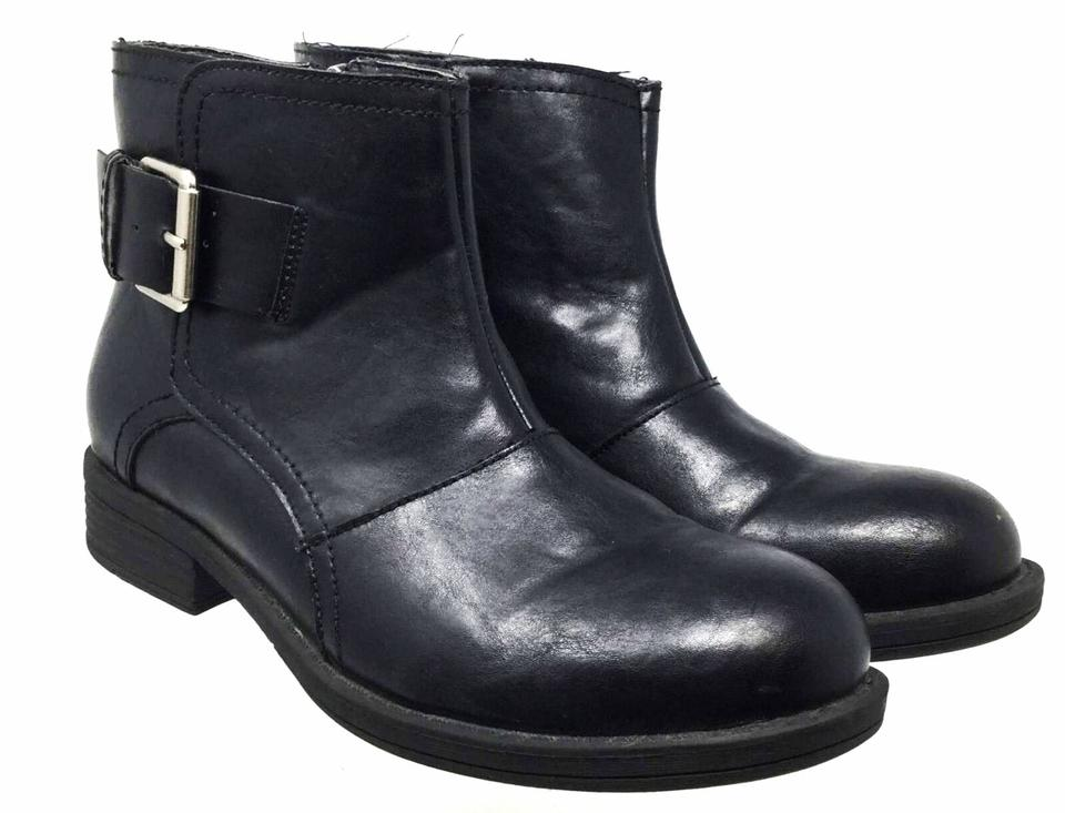 7bf77a8ecf3 Kenneth Cole Black Reaction Women s Motorcycle Style Ankle Boots ...