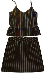Alex + Alex Pinstriped Mini skirt / tank