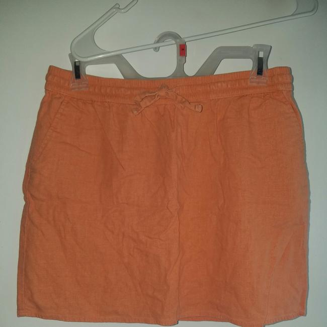Item - Orange Sherbert Essentials Linen Skirt Size 8 (M, 29, 30)