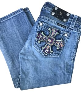 Miss Me Capri/Cropped Denim-Light Wash