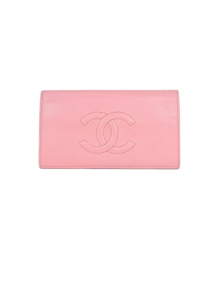beb3cf1c356d Chanel Pink Caviar Leather Cc Timeless Yen Wallet - Tradesy