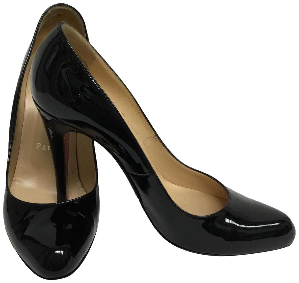 2e04686156ea Christian Louboutin Black Patent Leather Fifille Pumps Size EU 37.5 ...