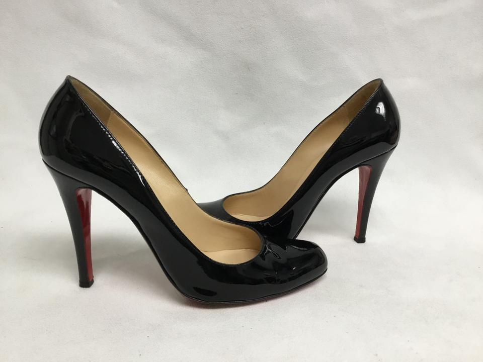 3eb2228bc2fb Christian Louboutin Black Patent Leather Fifille Pumps Size EU 37.5 ...