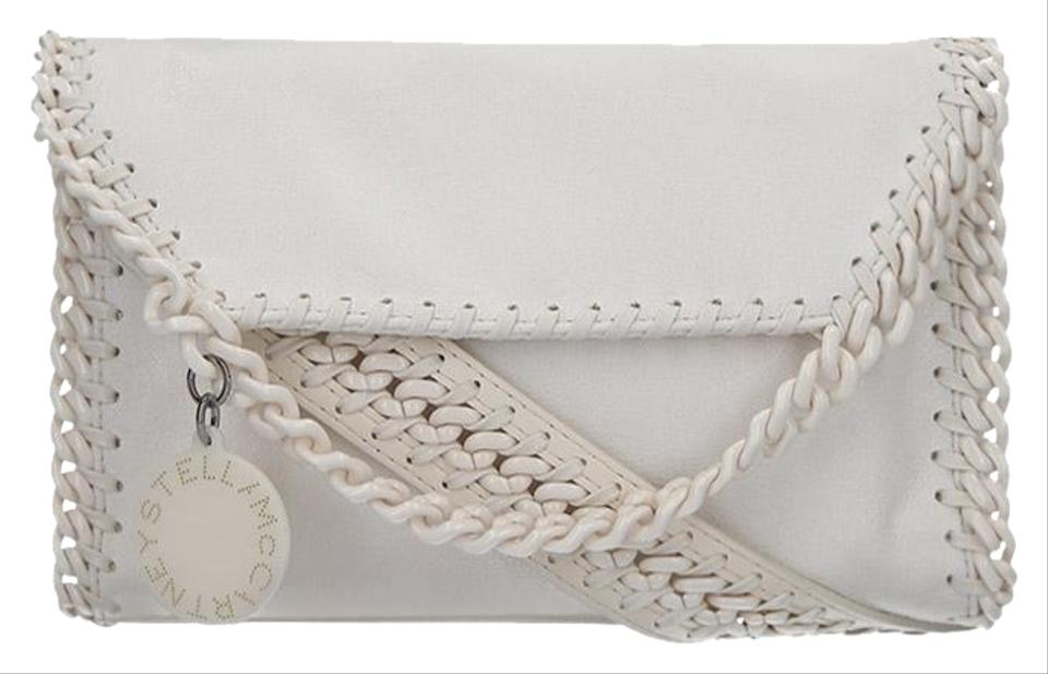 e613c4ea915563 Stella McCartney Mini Falabella Candy White Faux Leather Shoulder ...