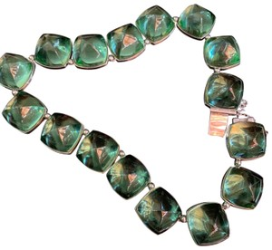 Baccarat green baccarat necklace