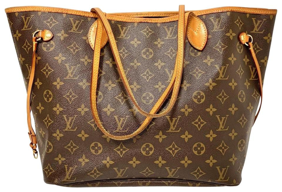 97785f2a77 Louis Vuitton Neverfull Mm B00000864 Monogram Canvas Tote in Brown Image 0  ...