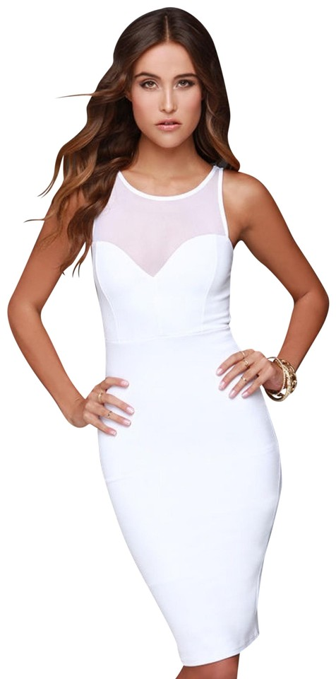 4b142aa259 Lulu s White Forever Sweethearts Ivory Bodycon Short Night Out Dress ...