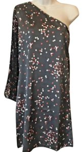 Tracy Negoshian #one Shoulder Polka Dot Chiffon Dress