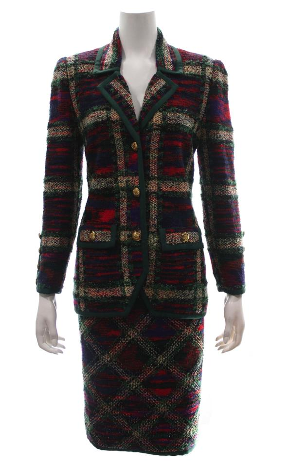 c1e1a3292 Adolfo Multicolor Vintage Blazer And Skirt Suit Size 8 (M) - Tradesy