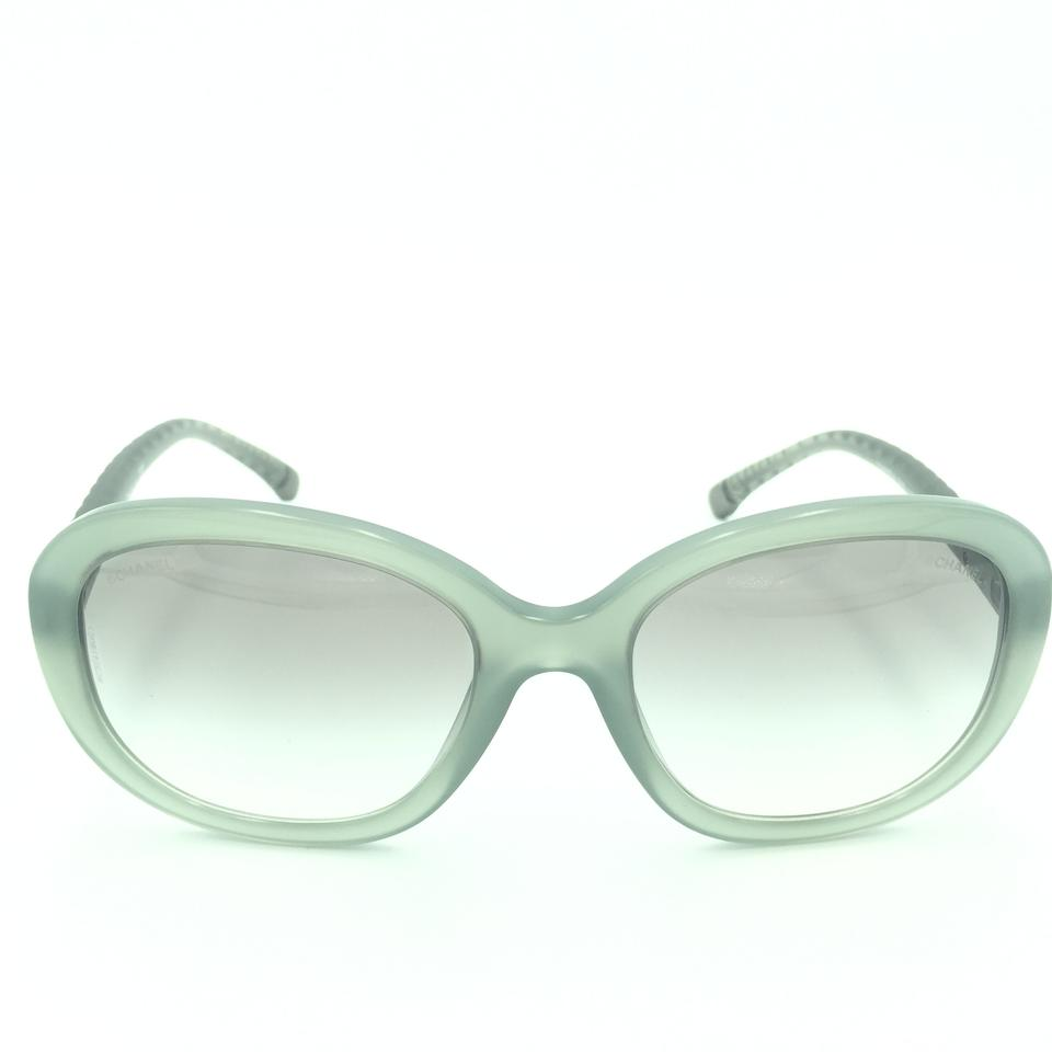 6c20652a2799 Chanel Chanel Round Quilted Light Green Gradient 5328 c.1531 S3 Sunglasses  Image 0 ...