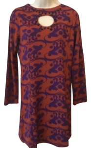 Tracy Negoshian Damask Sheath Keyhole Dress