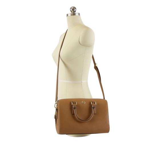 Tory Burch Robinson Leather Satchel in Tiger Eye Image 1