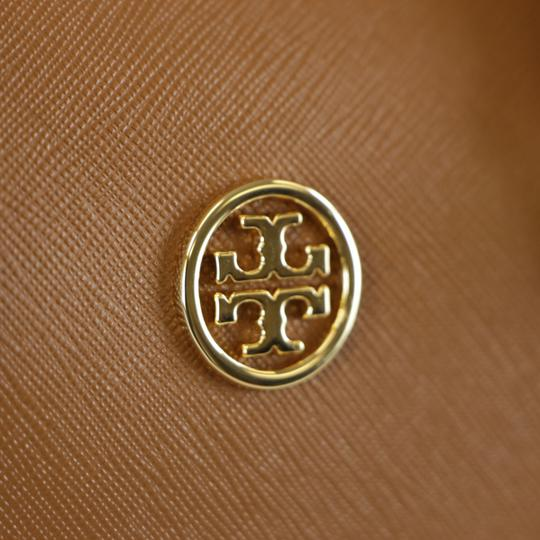 Tory Burch Robinson Leather Satchel in Tiger Eye Image 11