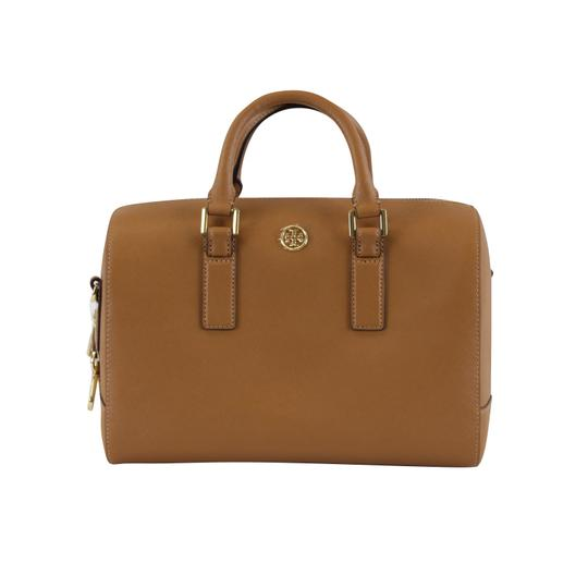 Tory Burch Robinson Leather Satchel in Tiger Eye Image 2