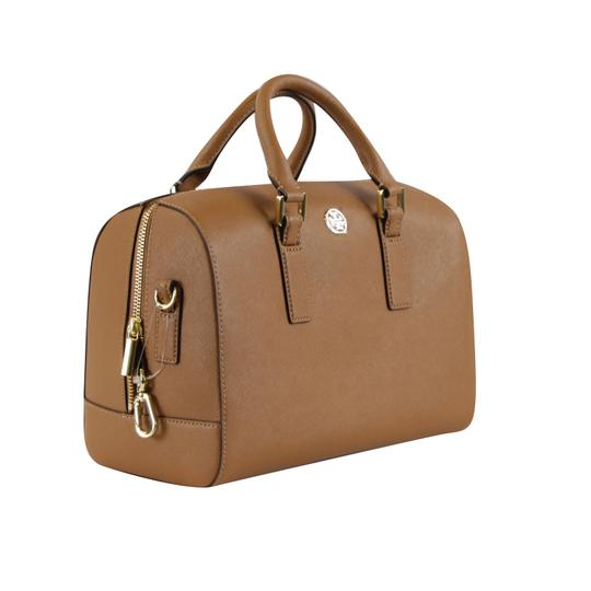 Tory Burch Robinson Leather Satchel in Tiger Eye Image 3