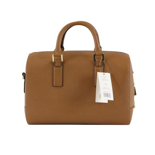 Tory Burch Robinson Leather Satchel in Tiger Eye Image 4