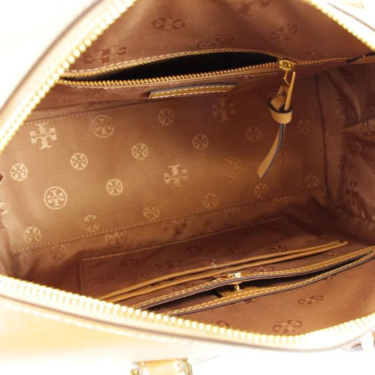 Tory Burch Robinson Leather Satchel in Tiger Eye Image 7