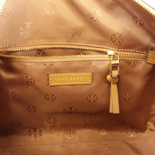 Tory Burch Robinson Leather Satchel in Tiger Eye Image 8