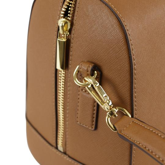 Tory Burch Robinson Leather Satchel in Tiger Eye Image 9