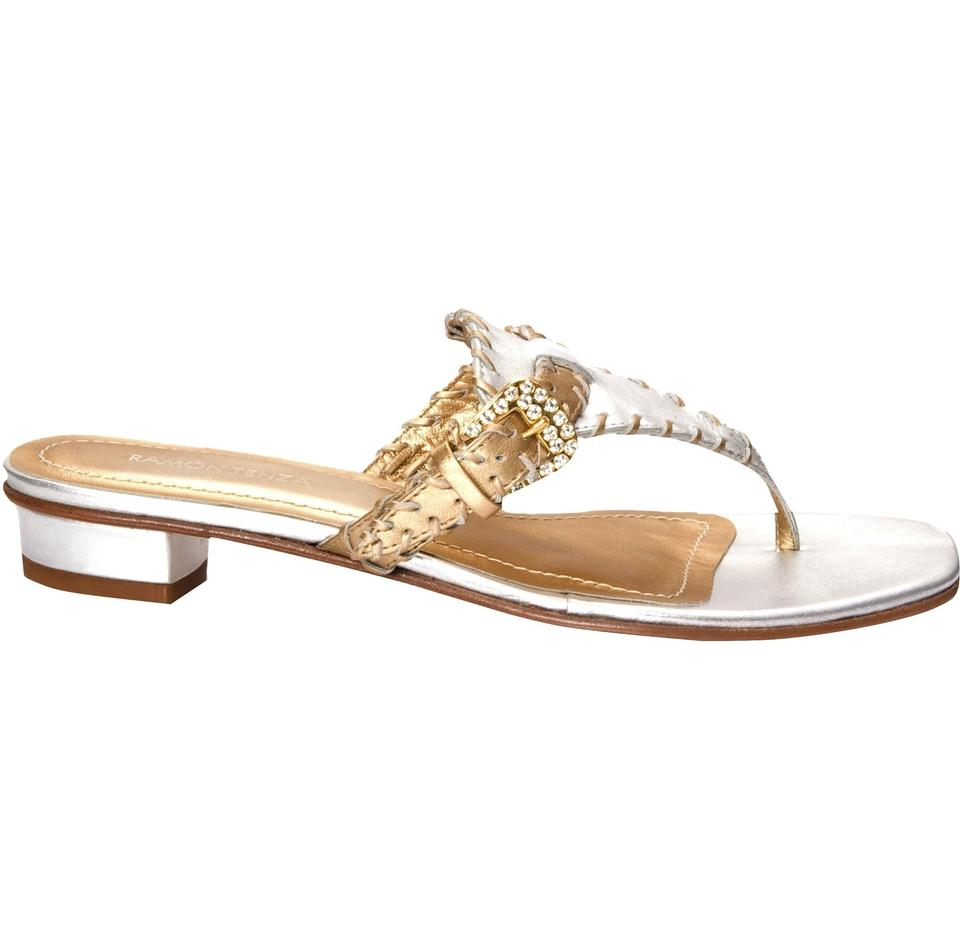 d11cc02d641 Ramon Tenza New From Spain Leather Crystal Sandal Slides Thong Flats ...