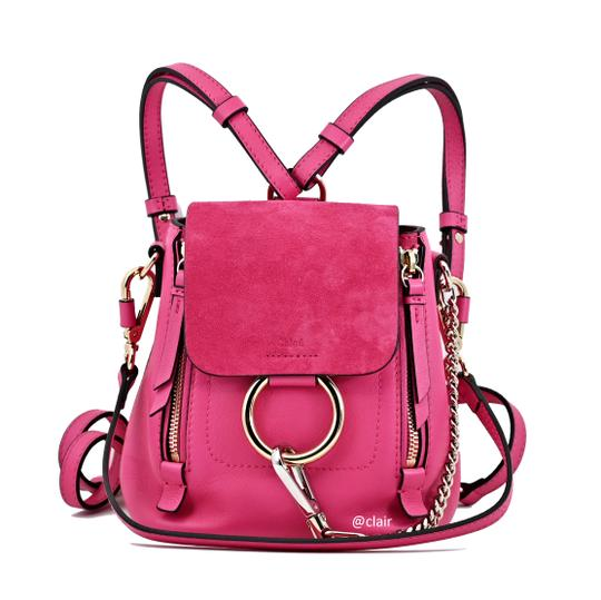 Preload https://img-static.tradesy.com/item/25183826/chloe-faye-mini-suede-fuchsia-rose-leather-backpack-0-2-540-540.jpg