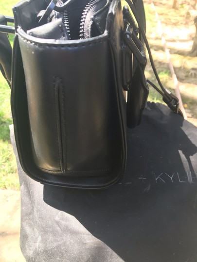 Kendall + Kylie Satchel in Black leather Image 3