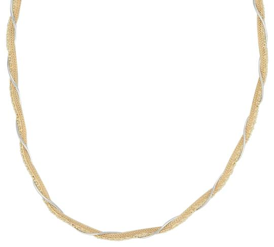 Preload https://img-static.tradesy.com/item/25183881/yellow-and-white-gold-woven-wheat-bead-snake-chain-18k-1625-43mm-italy-necklace-0-1-540-540.jpg