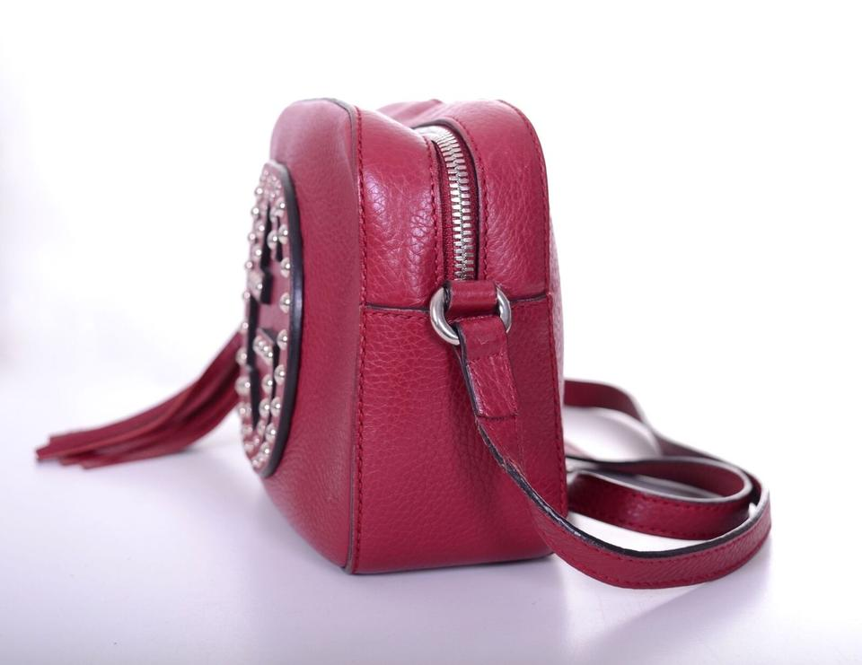 0d9124a1895 Gucci Soho Studded Disco Chain Strap Purse Burgundy Leather Cross Body Bag  - Tradesy