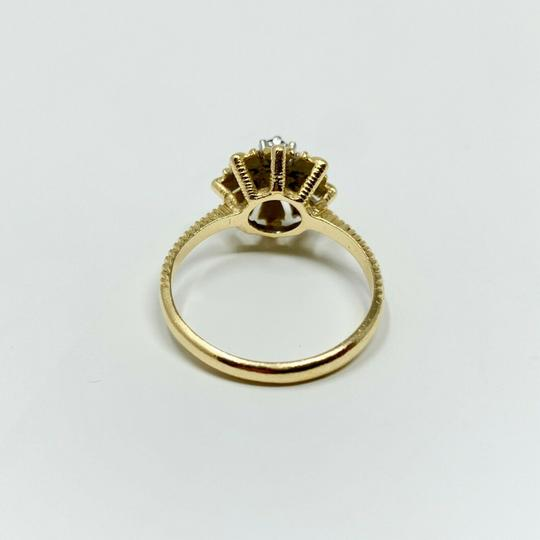 Other 14k Yellow Gold Vintage Ruby and Diamond Floral Ring Size 7 Image 2