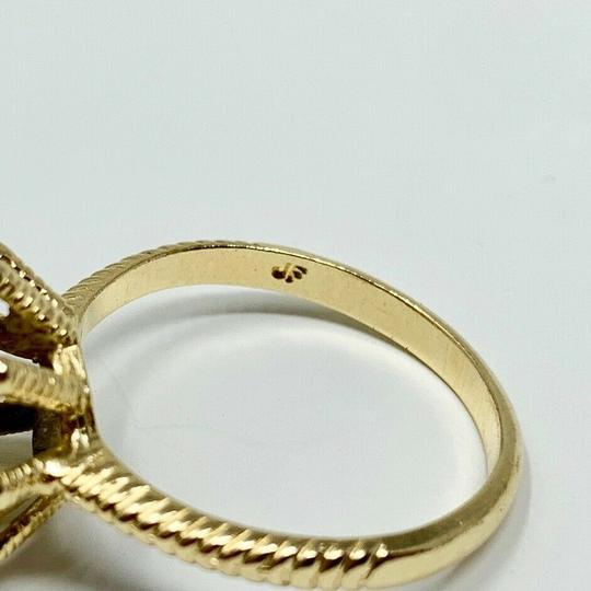 Other 14k Yellow Gold Vintage Ruby and Diamond Floral Ring Size 7 Image 4