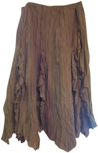 The Pyramid Collection Gypsy Hippie Boho Pagan Nature Skirt Brown