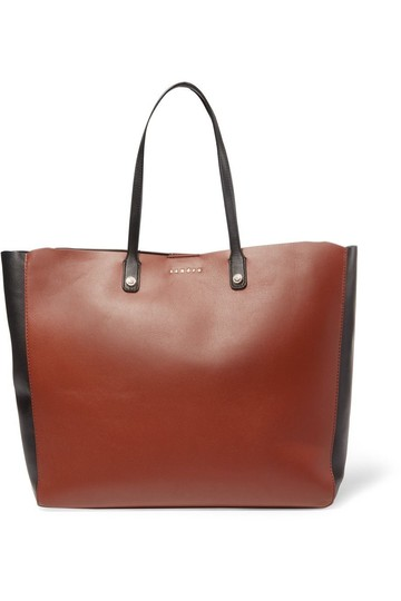 Preload https://img-static.tradesy.com/item/25183978/sandro-adela-brown-calfskin-leather-tote-0-0-540-540.jpg