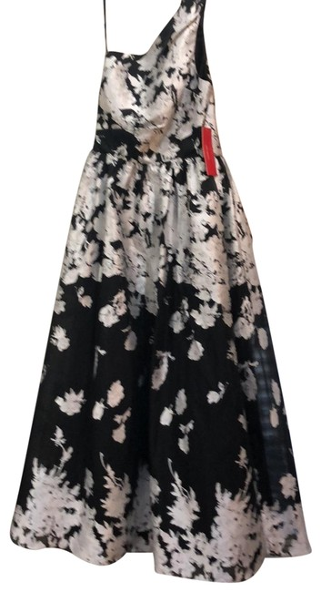 Item - Black and White Infusion Organza Ballgown Long Formal Dress Size 10 (M)