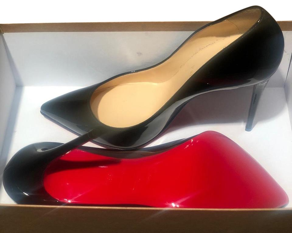 free shipping 7319f e603f Christian Louboutin Black W/ Red Bottoms Pigalle Follies Patent Leather  Pumps Size EU 38.5 (Approx. US 8.5) Narrow (Aa, N) 21% off retail